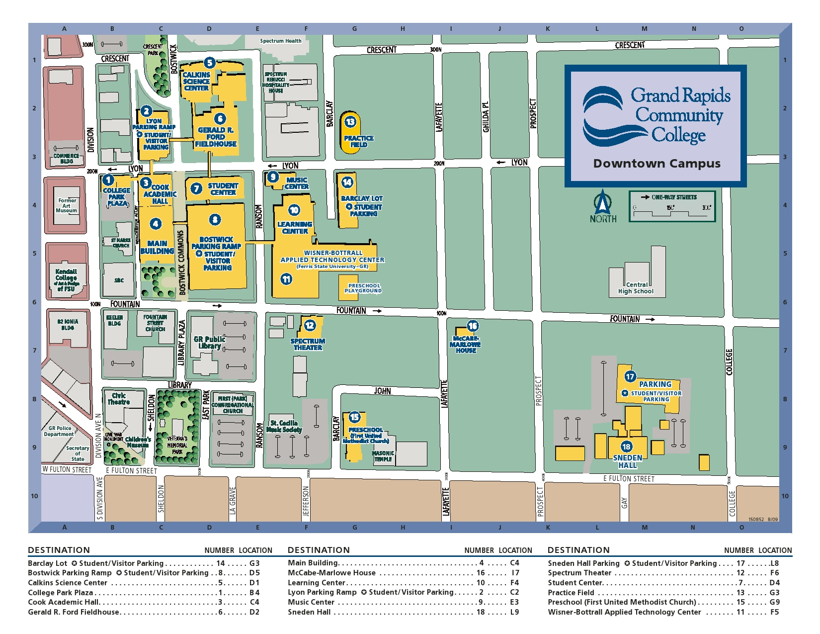 many places to park around grcc to avoid early semester traffic