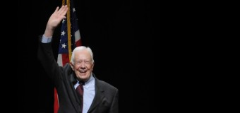 Jimmy Carter and his wife Rosalynn speak at GRCC about human rights and mental health