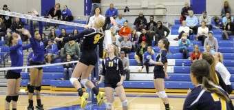 GRCC volleyball team sweeps Lansing Community College 3-0