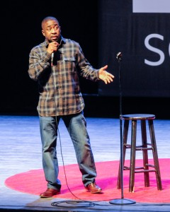 Keith Robinson opened the night for Wanda Sykes.  Photo by John Rothwell