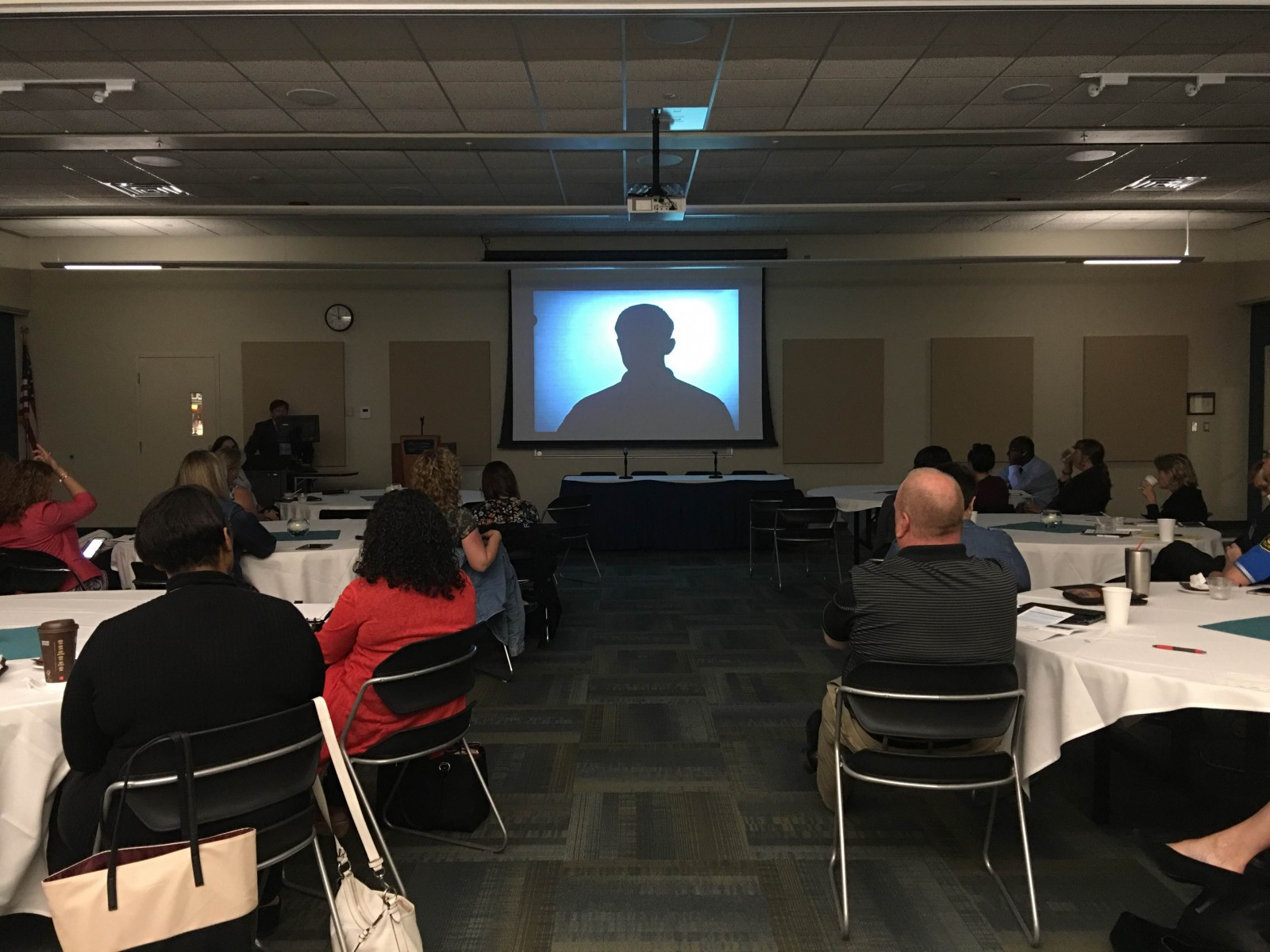 Michigan community college leaders learn more about sexual assault on college campuses with speaker Sarah Prout Rennie of the Michigan Coalition to End Domestic and Sexual Violence.
