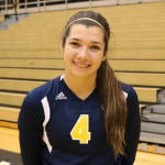 Outside Hitter sophomore Lauren Wieber.