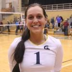 Sophomore Libero/Defensive Specialist, #1, Janie Bunge.