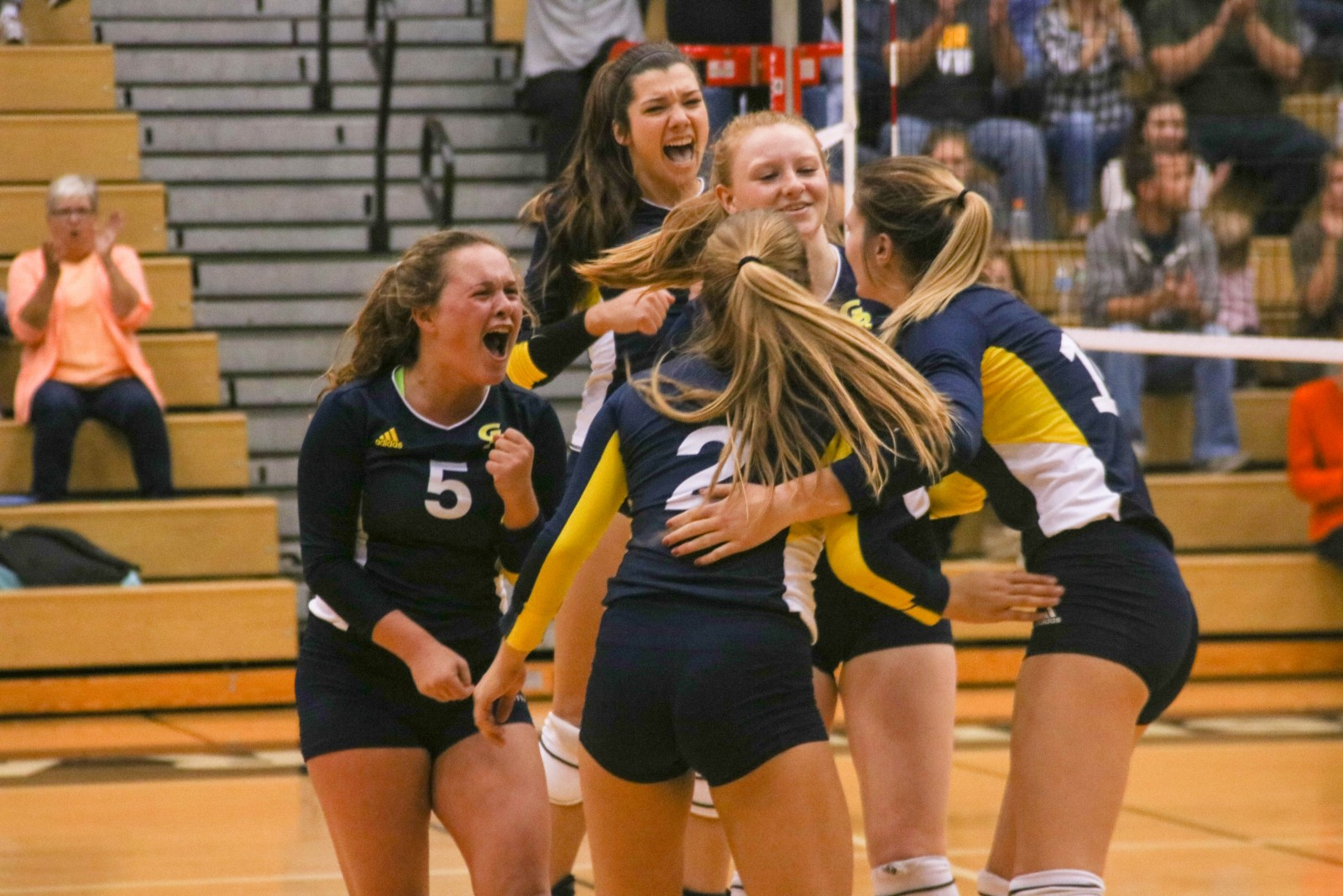 Energy and emotion break through as the GRCC volleyball team gains momentum against Muskegon CC.