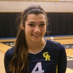 Sophomore Outside Hitter, #4, Lauren Weiber.