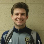 Freshman Guard, #5, Zach Pangborn.