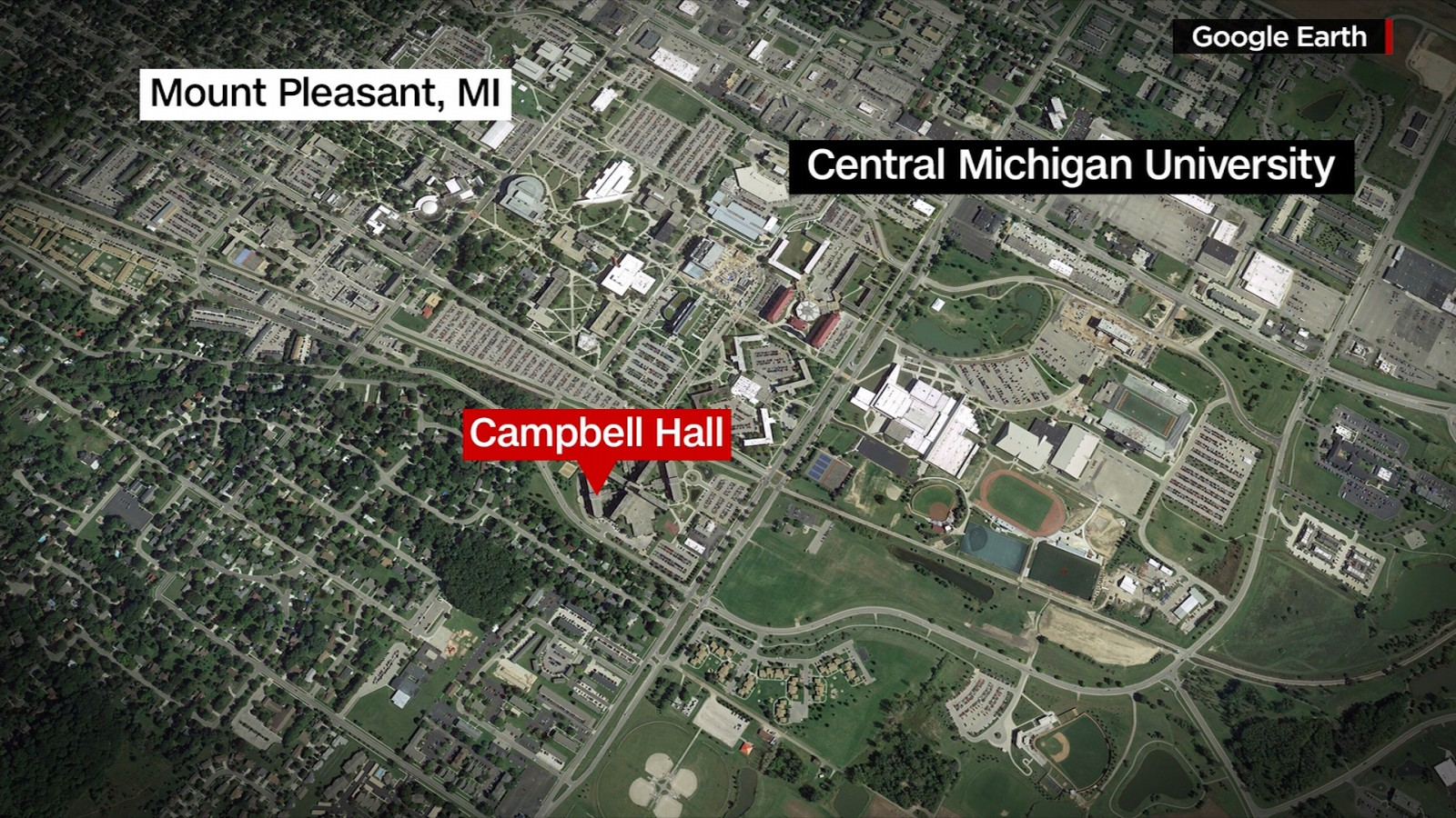 2 dead in Central Michigan University shooting, gunman at large