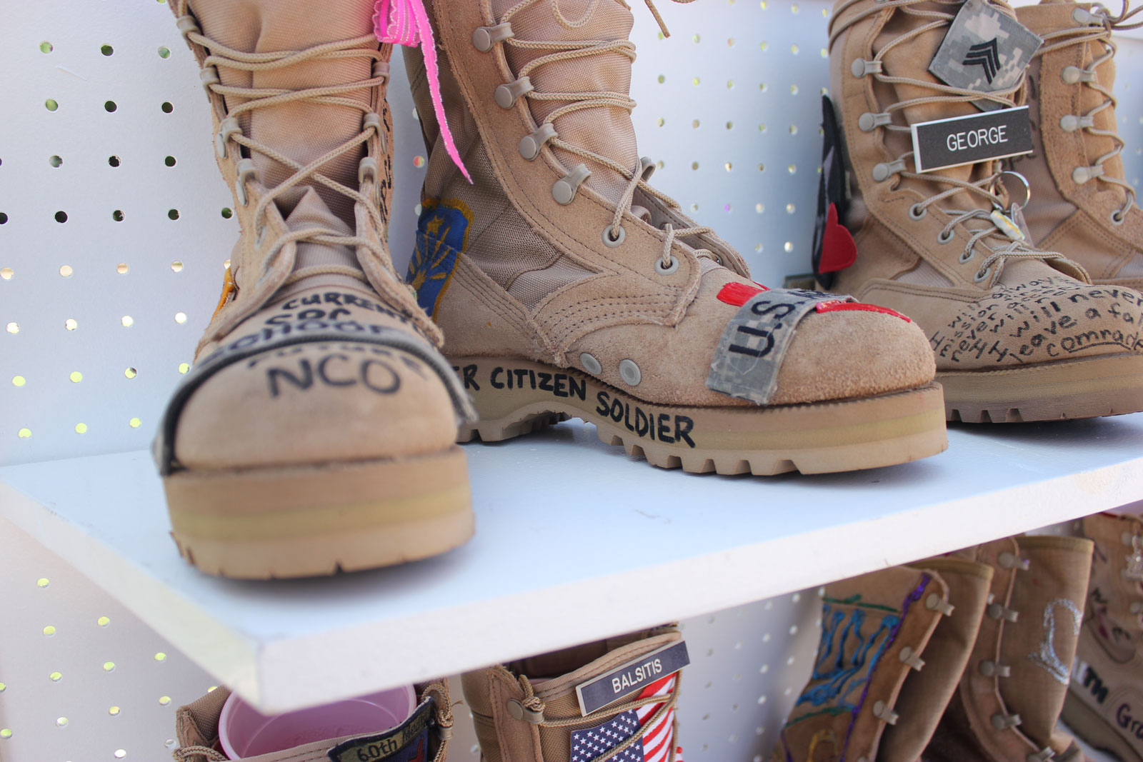 """Artprize entry """"Her Boots: Step up for the Stand Down"""""""