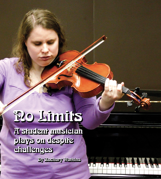 No Limits - a student musician plays on despite challenges