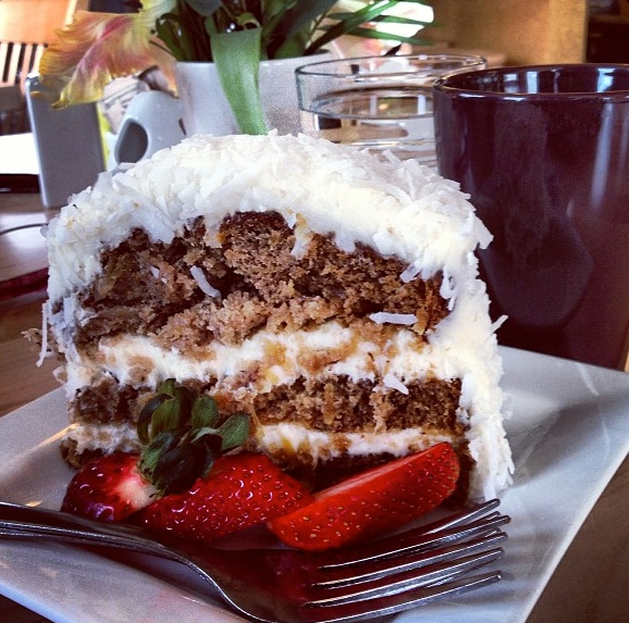 Hummingbird Cake at Marie Catrib's Photo by Allison Arnold