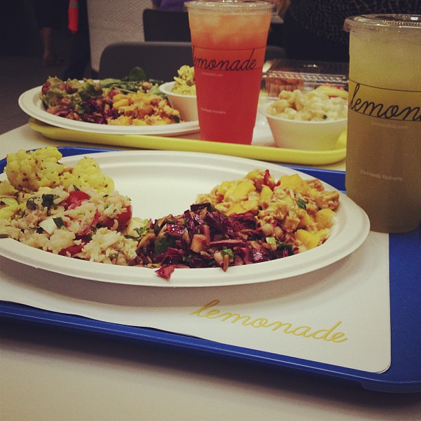Salads and drinks at Lemonade Photo by Allison Arnold