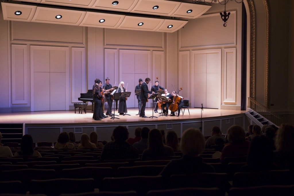 """The GRCC Chamber Orchestra lead by Libor Ondras performed the first with Allegro non Molto """"Summer"""". Photo by Jonathan D. Lopez"""
