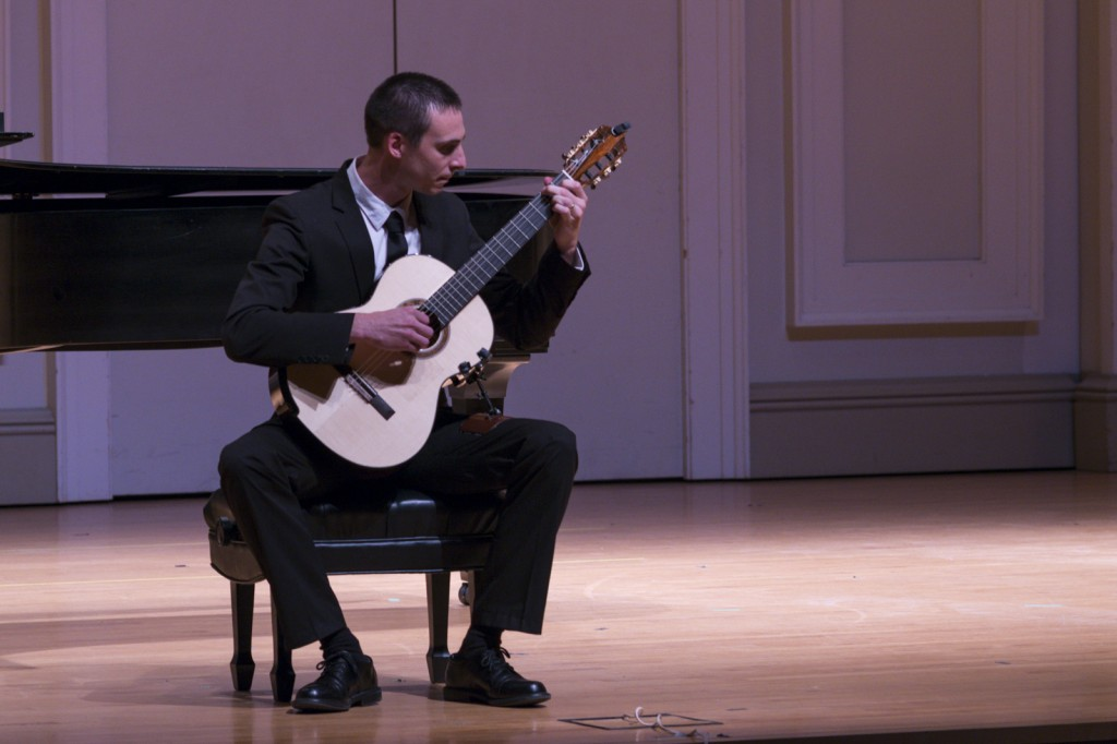 Jonathan Marshall performed four pieces with the guitar. Photo by Jonathan D. Lopez