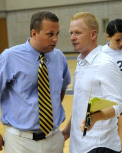 Chip Will, Head Coach (GRCC), and David Rawles, Assistant Coach last season. Photo by John Rothwell