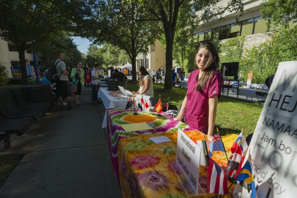 Yolanda Cruz-Olguín of the International Student Organization.  Photo by Jonathan D. Lopez