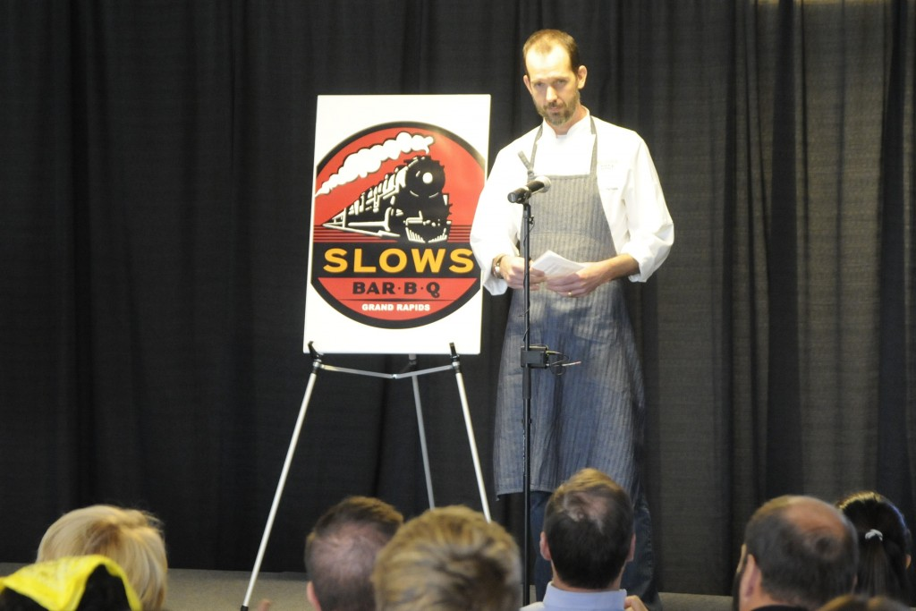 Slows Bar BQ Executive Chef Brian Perrone announced plans to expand into Downtown Market.  Photo by John Rothwell