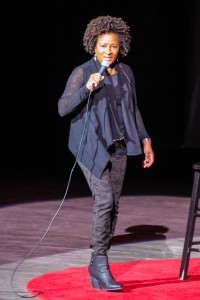 Wanda Sykes performing at Devos Hall for Gilda's Laughfest of 2015.  Photo by John Rothwell