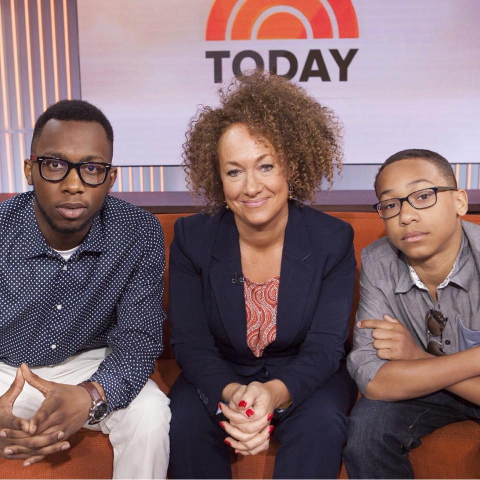 Rachel Dolezal during her appearance on NBC's Today show with her two sons. (via Facebook)
