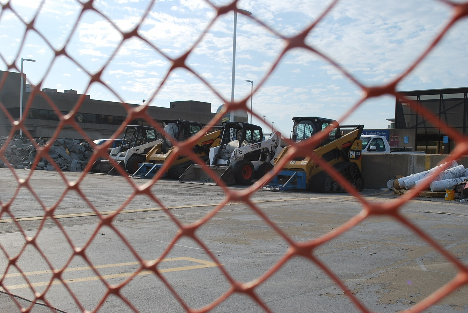 Construction is being done on the Bostwick Parking Ramp through next week.