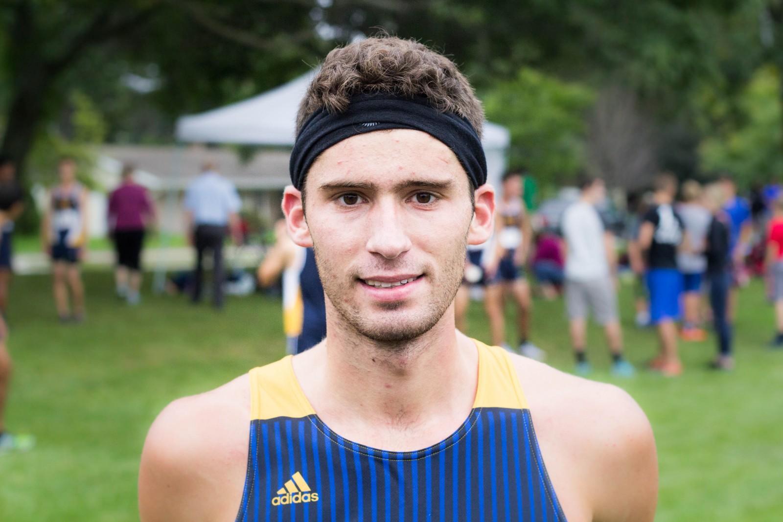 Sophomore cross country runner Brett Slayton.