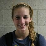 Freshman outside hitter/setter, #9, Lena Thompson.