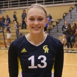 Freshman Middle Blocker, #13, Hannah Sterns.
