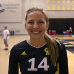 "Freshman Outside Hitter, #14, Samantha ""Sam"" Forner."
