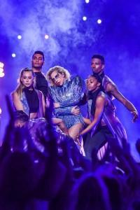 Lady Gaga performs during the Pepsi Zero Sugar Super Bowl LI Halftime Show held on Sunday, Feb. 5, 2017 at NRG Stadium in Houston, Texas. (Anthony Behar/Sipa USA/TNS)
