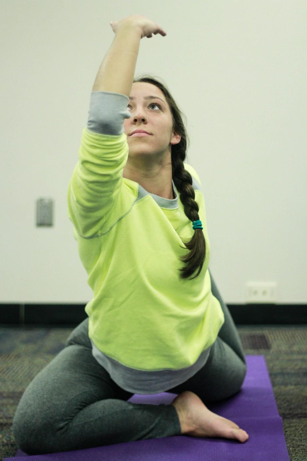"""""""Yoga is good for the soul, namaste."""" -Haily Maksymowski"""